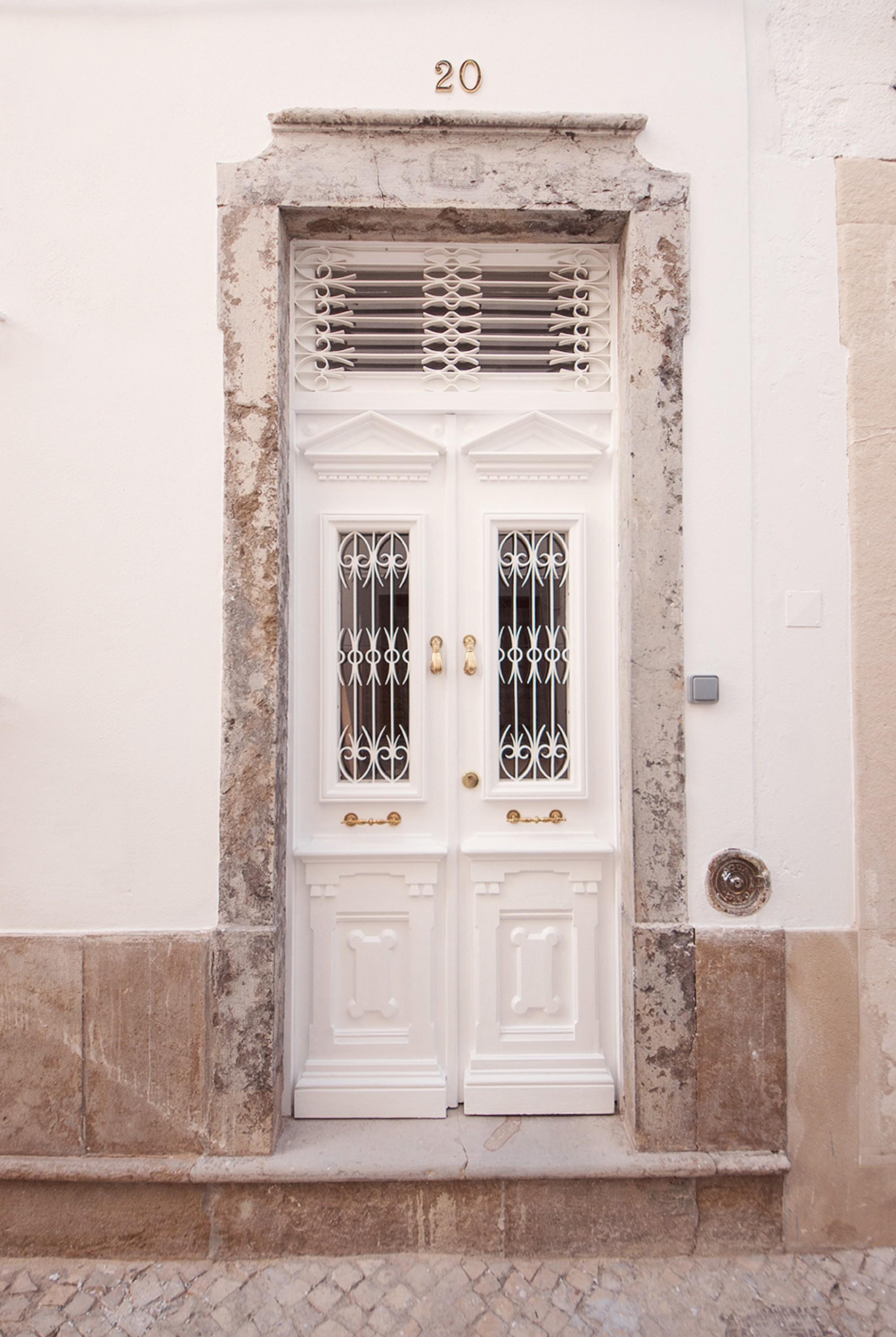 Restored pine door side entrance